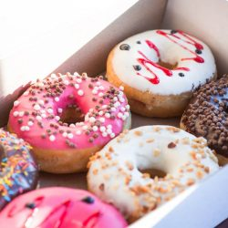 Iced Doughnuts in Box