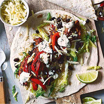 Build-your-own Chicken Burrito - Tesco Real Food