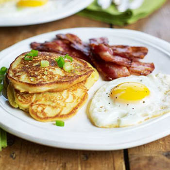 Potato and Spring Onion Breakfast Pancakes - BBC Good Food