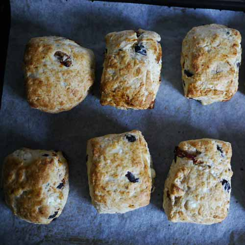 Black olive and feta scones